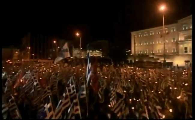 Ανησυχούν όλα τα πολιτικά κόμματα από το χθεσινό συλλαλητήριο-επίδειξη δυναμικής ισχύος στο Σύνταγμα