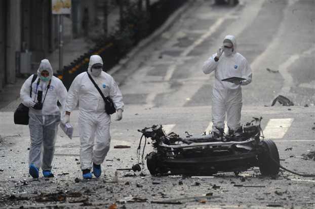 Ανάληψη ευθύνης για τη βόμβα στο Χαλάνδρι