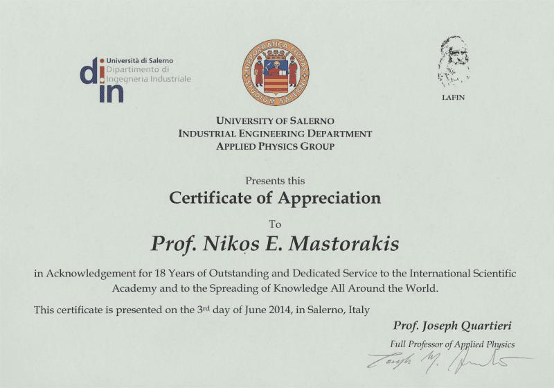 Διάκριση Έλληνα Επιστήμονα για την προσφορά του Επιστήμη και Έρευνα