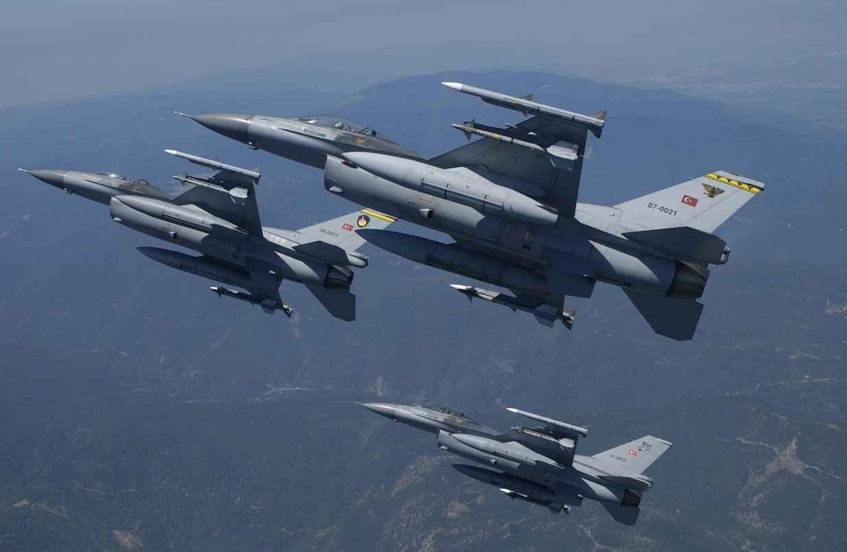 25 παραβιάσεις του εθνικού εναέριου χρόνου από τουρκικά αεροσκάφη