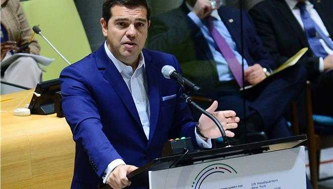 Tsipras urges action for refugees at UN