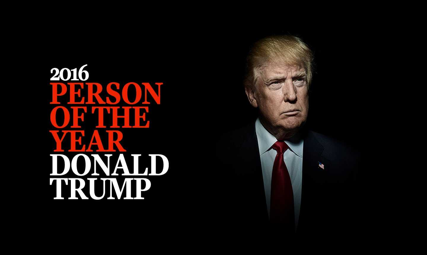 Trump is the person of the year according to TIME magazine