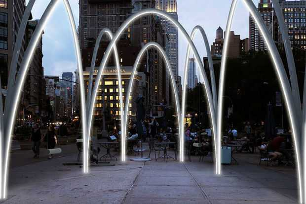 """Flatiron Sky-Line: New York's engaging installation is the project of two Greek architects!"