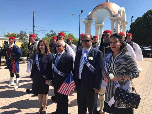 Greek Independence Day parade in Tarpon Springs, Florida- AHI President Serves as Grand Marshal