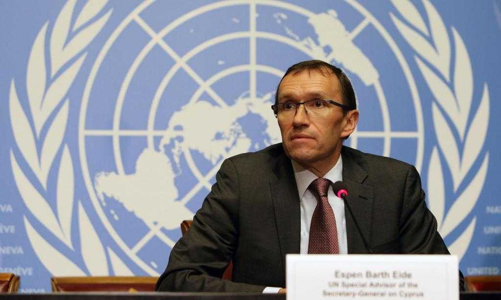 Eide puts pressure on Athens and Ankara about the mandated common document