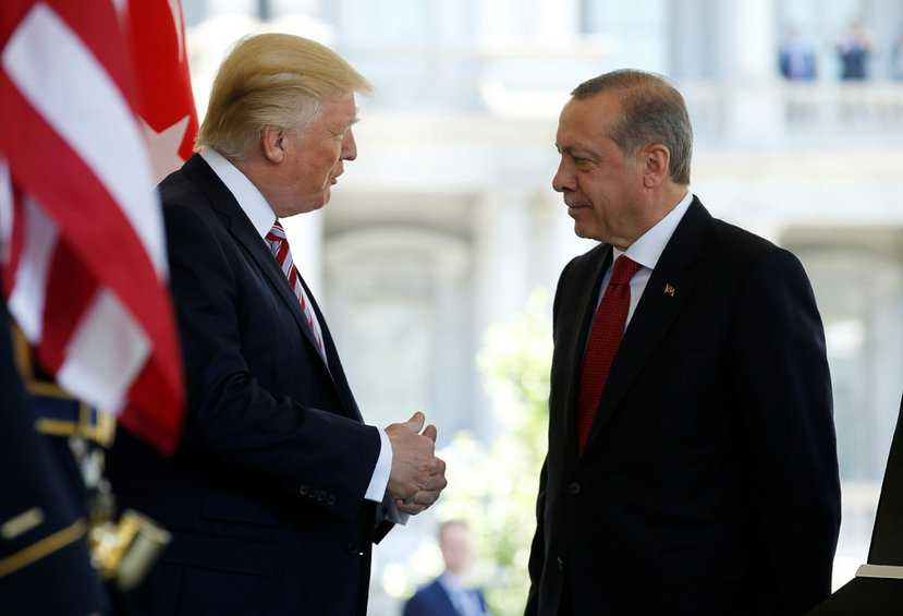 President Trump speaks to President Recep Tayyip Erdogan