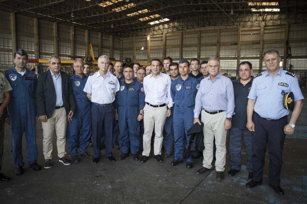 Επίσκεψη του Πρωθυπουργού στην 112 Πτέρυγα Μάχης στην Ελευσίνα (φωτογραφίες)
