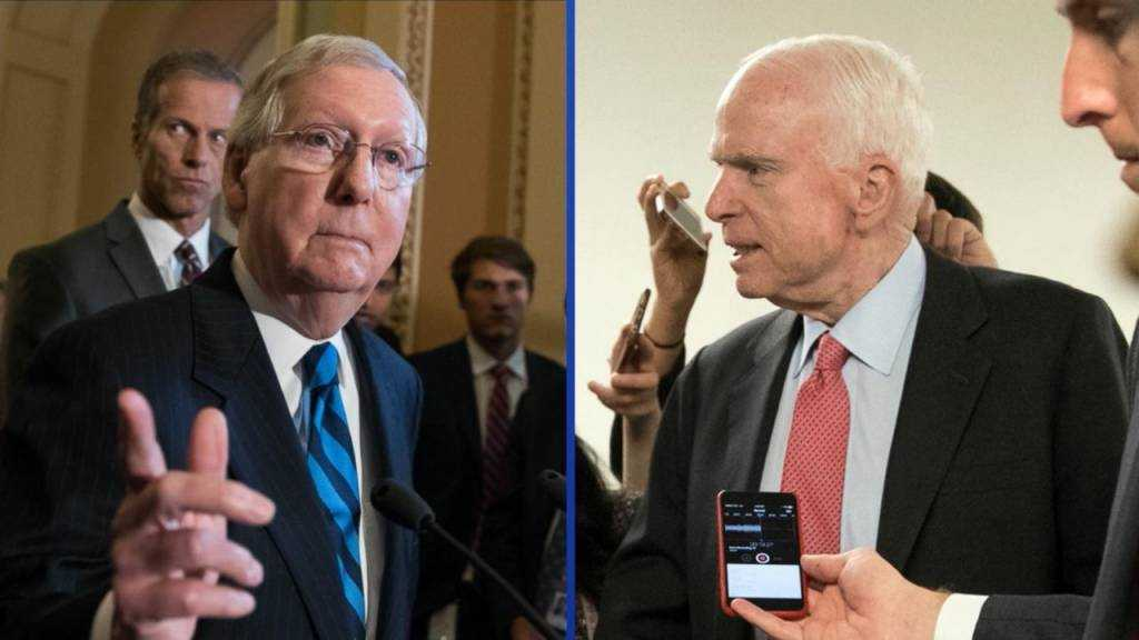 U.S. Senate delays its consideration of healthcare legislation while McCain recuperates from surgery