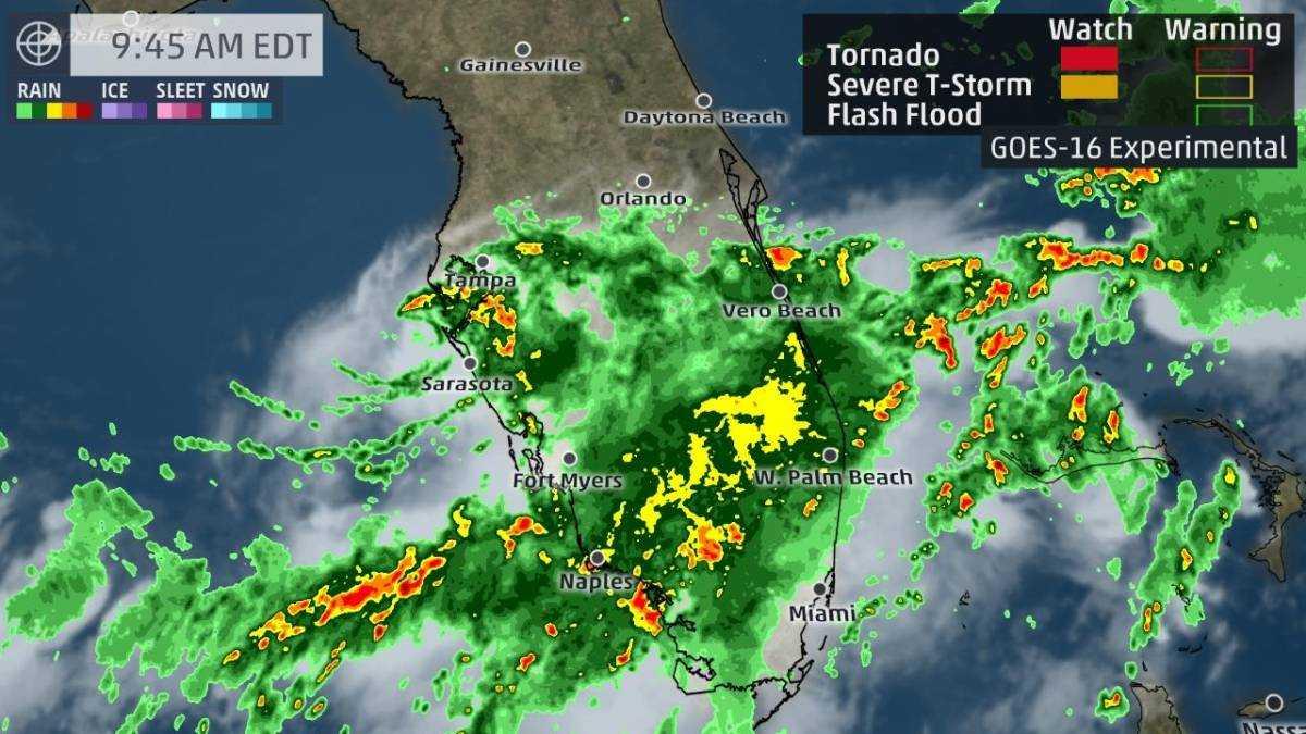 Tropical storm Emily strikes off-coast of Florida; heavy rain forecast