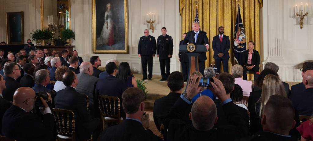 Trump Recognizes Heroic First Responders