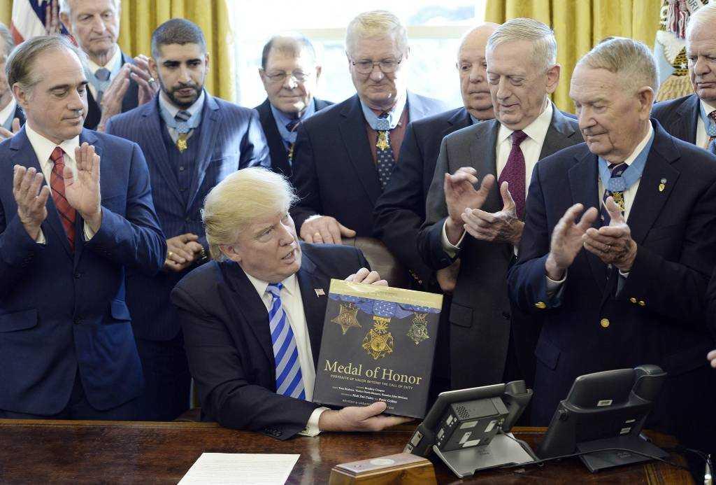 Trump awards the Medal of Honor to Vietnam Veteran James C. McCloughan