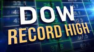 The Dow Jones industrial average hits another milestone