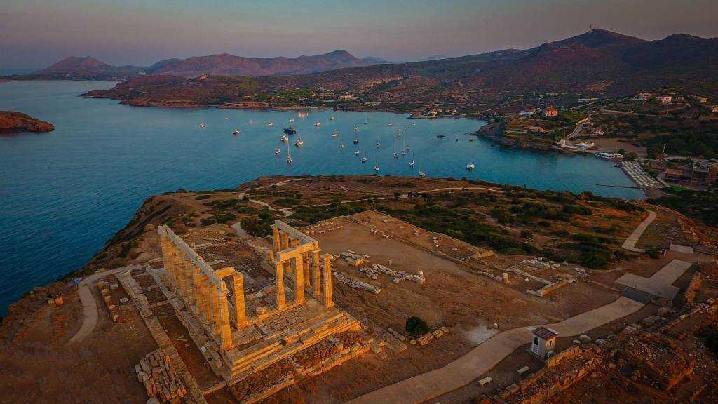 Ο μαγευτικός ναός του Ποσειδώνα στο Σούνιο