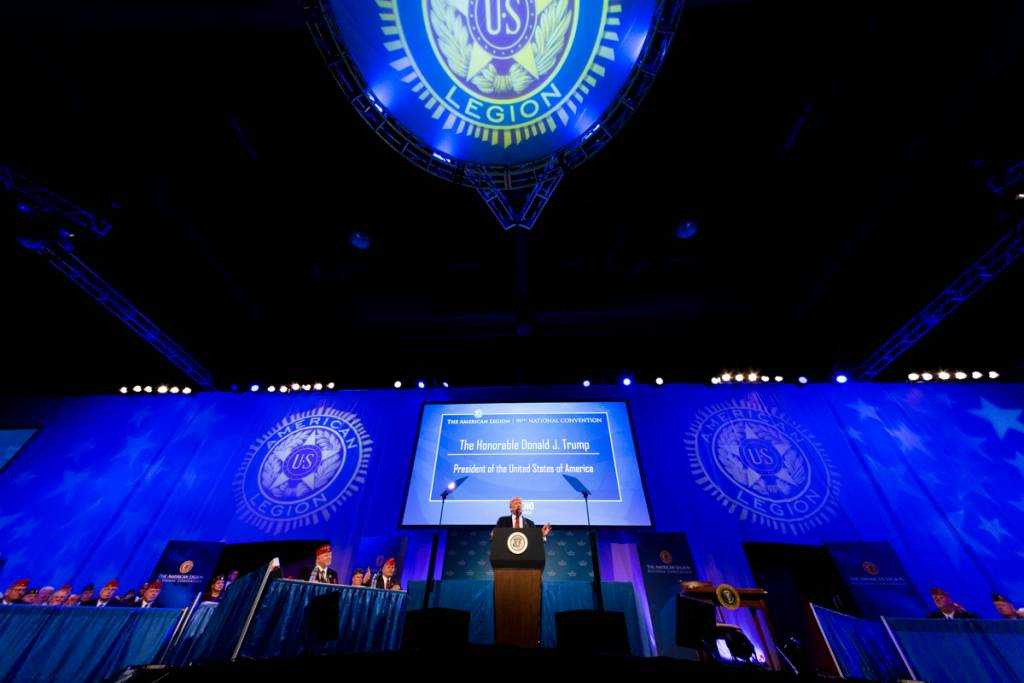 President Trump at the American Legion's 99th National Convention
