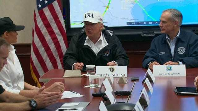 President Trump's visit to hurricane-ravaged Texas