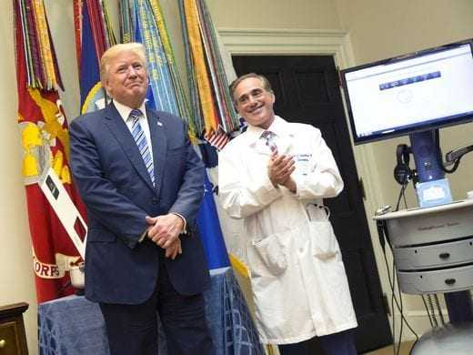 President Trump touted a new program to increase veterans' electronic access to medical care