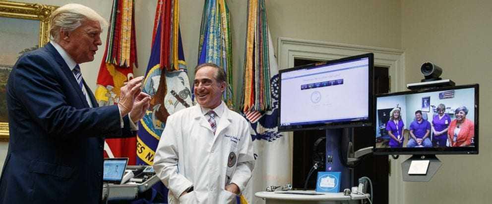 President Trump Participates in a Department of Veterans Affairs Telehealth Event
