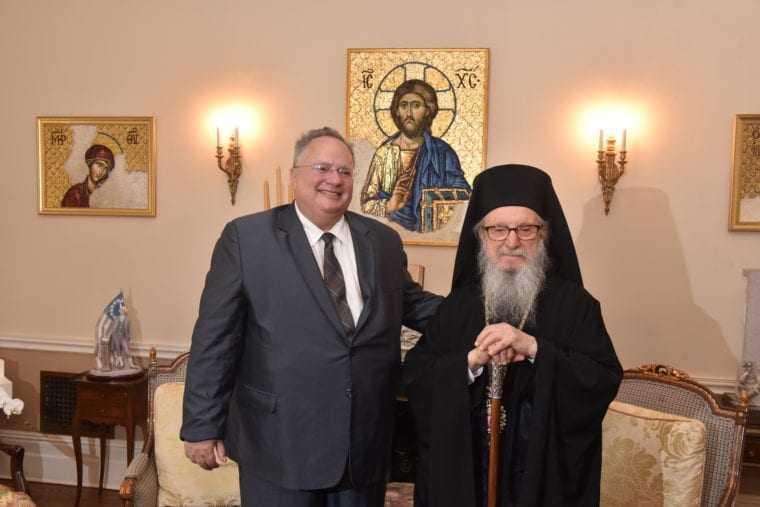 Nikos Kotzias visits Archbishop Demetrios in New York
