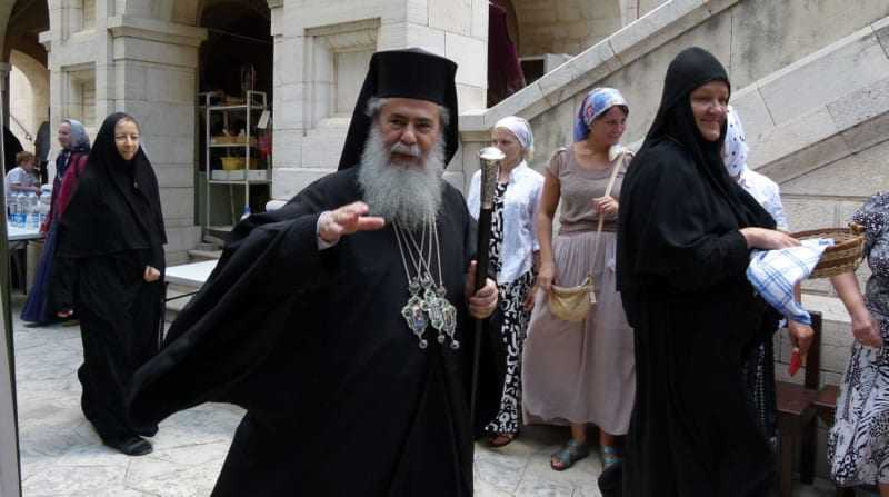 Protesters demonstrated in the center of Nazareth against Patriarch Theofilus III
