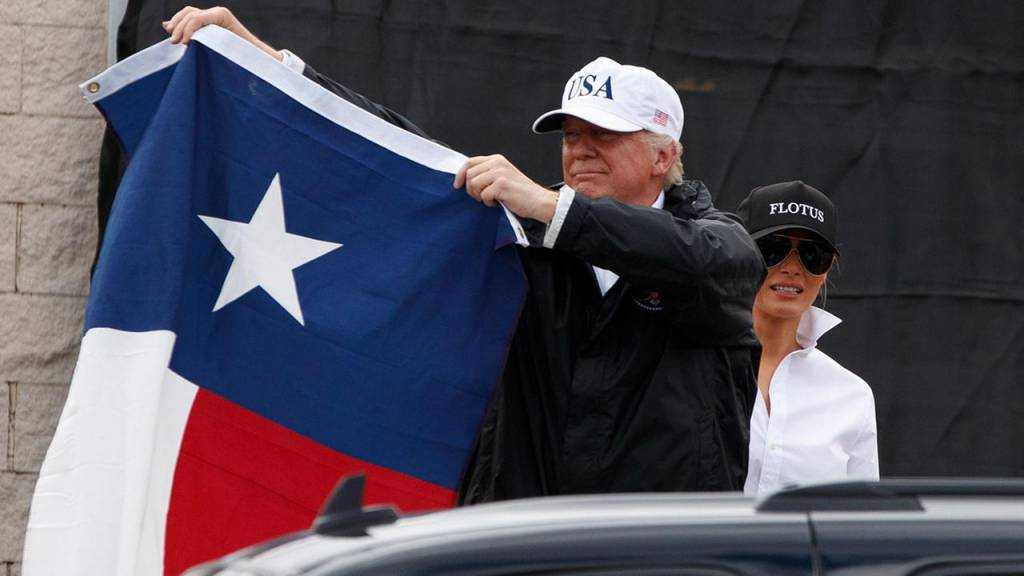 Trump promised $1 million for the victims of Harvey