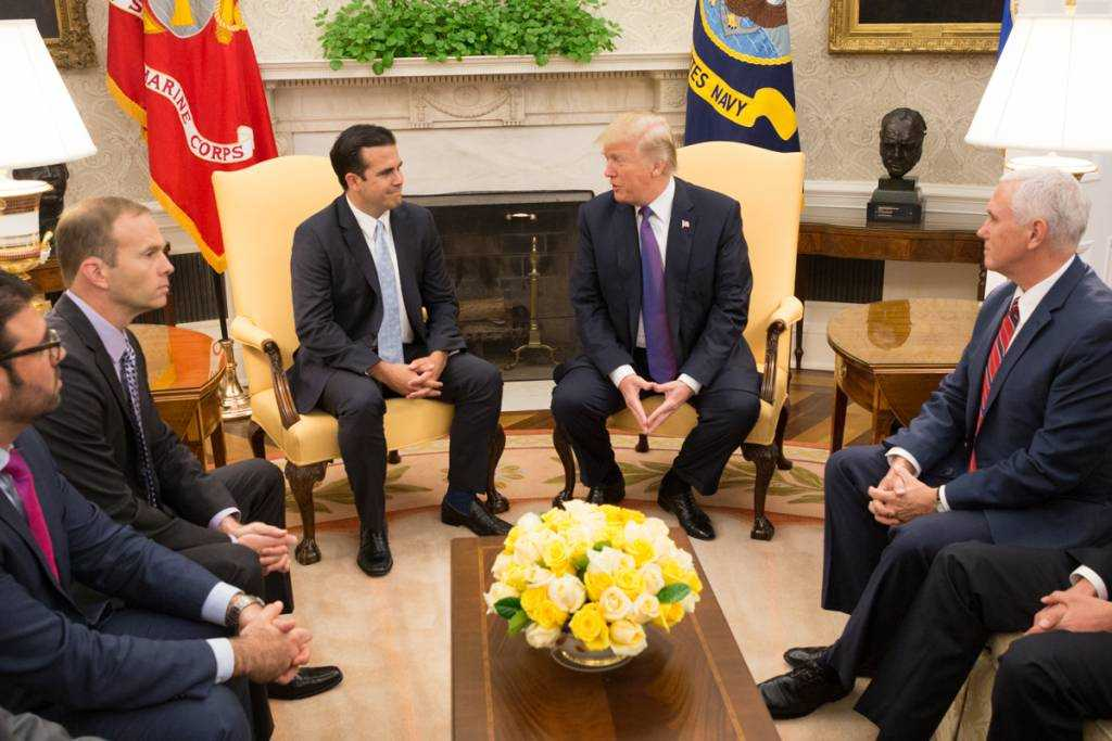 Governor of Puerto Rico Ricardo Rosselló Visits the White House