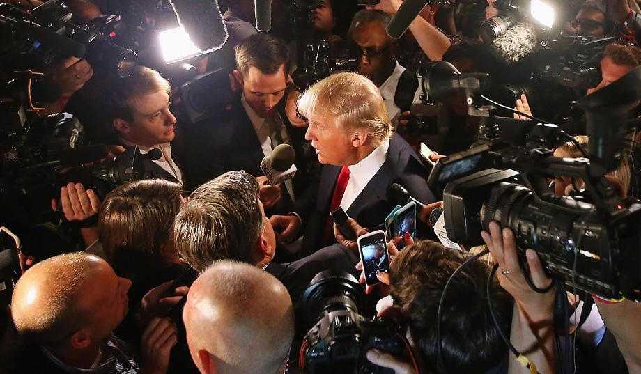 The mainstream media don't like Trump according to survey