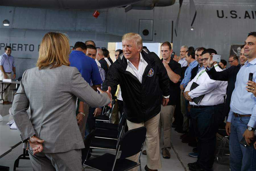 Trump's visit to Puerto Rico after Hurricane Maria
