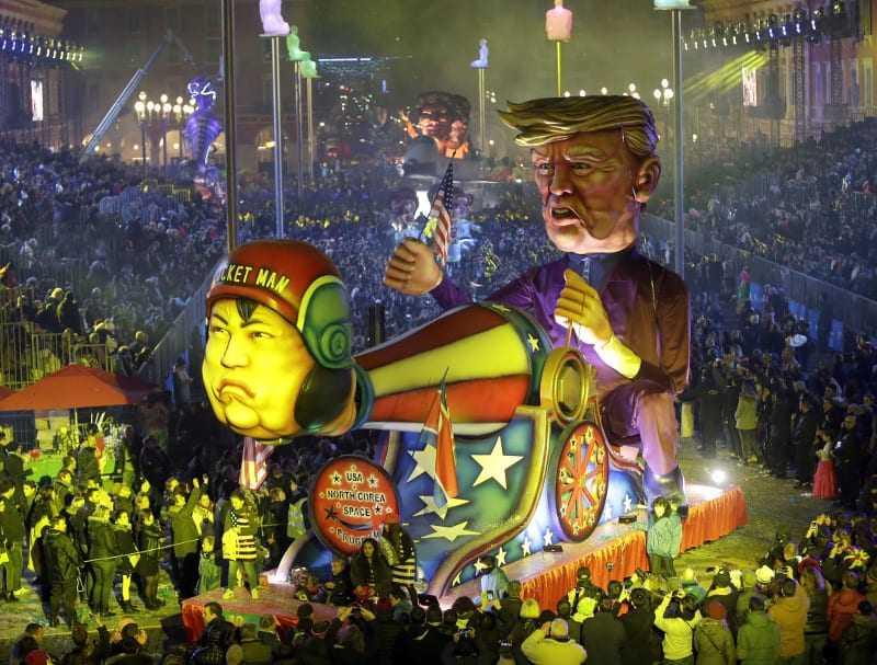 Βασιλιάς Καρνάβαλος ο Ντόναλντ Τραμπ στο καρναβάλι της Νίκαιας