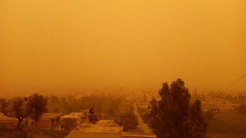 «Σκέπασε» Κρήτη και Πύργο η Αφρικανική σκόνη (ΦΩΤΟ)