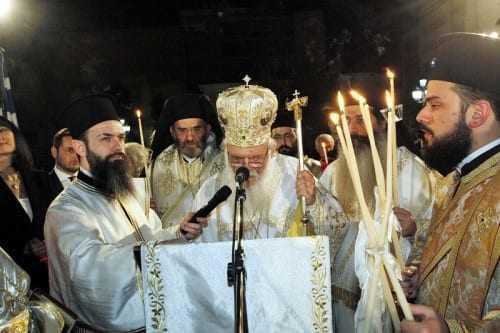 Ο Αρχιεπίσκοπος Ιερώνυμος έψαλε τον Εθνικό Ύμνο (ΒΙΝΤΕΟ)