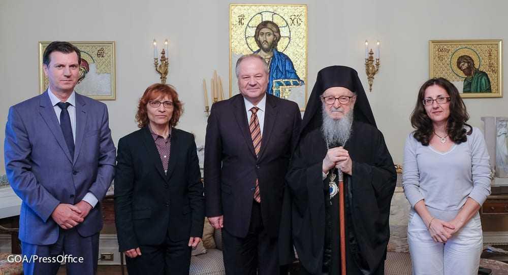 Η ηγεσία της Ελληνικής Αστυνομίας επισκέφτηκε τον Αρχιεπίσκοπο Αμερικής Δημήτριο