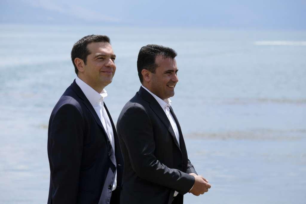 Τελετή υπογραφής της συμφωνίας για την ονομασία της ΠΓΔΜ στις Πρέσπες (ΦΩΤΟ)