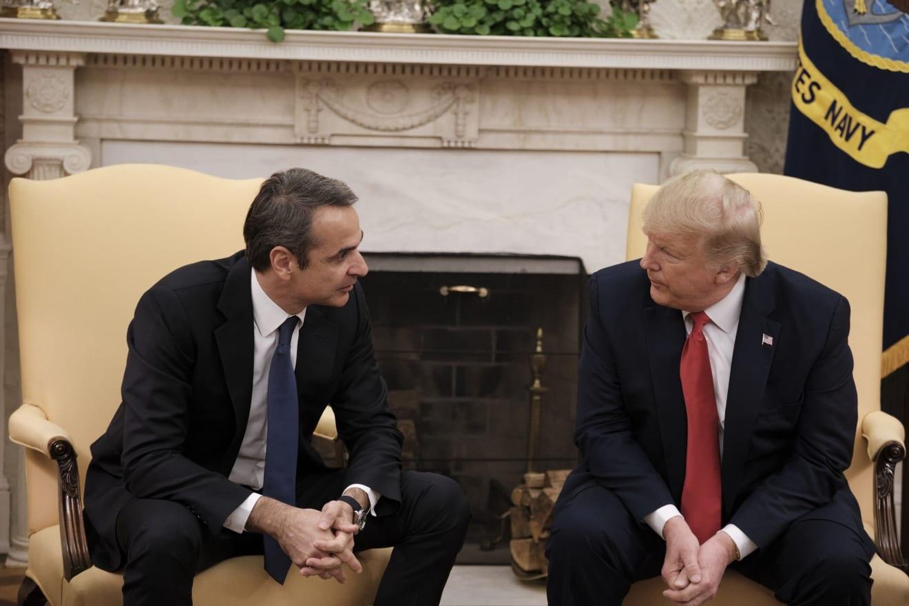 Καρε – καρέ η συνάντηση στον Λευκό Οίκο του Έλληνα ΠΘ Κυριάκου Μητσοτάκη με τον Αμερικανό Πρόεδρο Donald Trump