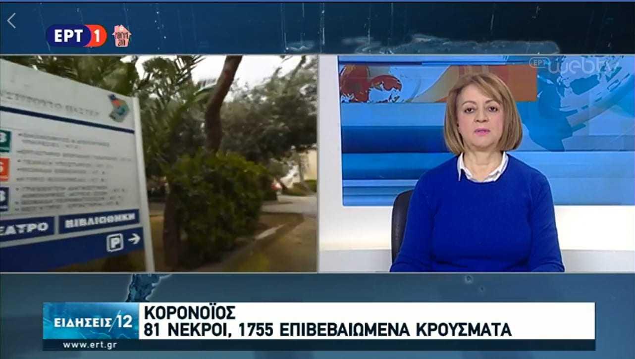 COVID -19 Ελλάδα 81 οι νεκροί μέχρι τις 12:00 (τοπική ώρα)