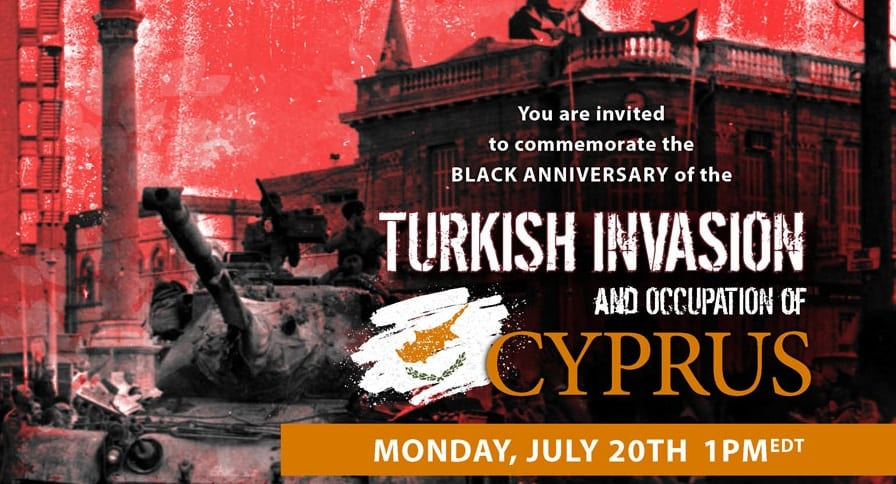 PSEKA's online commemoration of the  Black Anniversary of the Turkish invasion and occupation of Cyprus